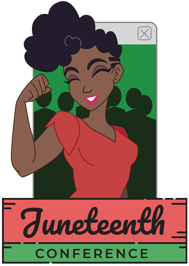 Juneteenth Conference Header, containing conference illustration